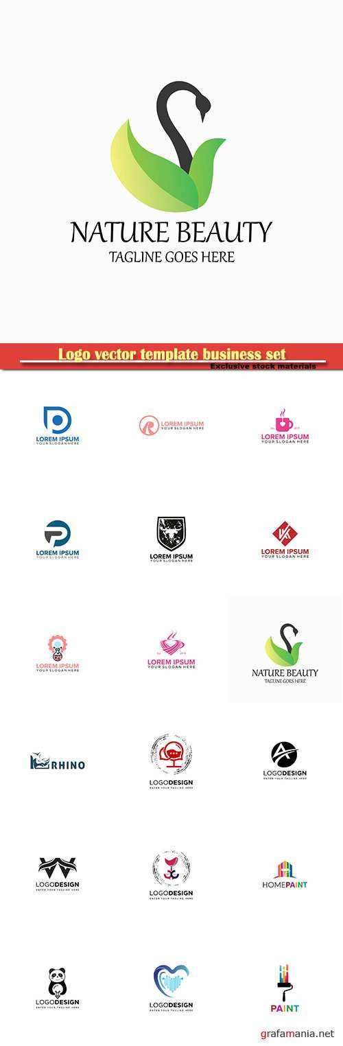 Logo vector template business set # 6