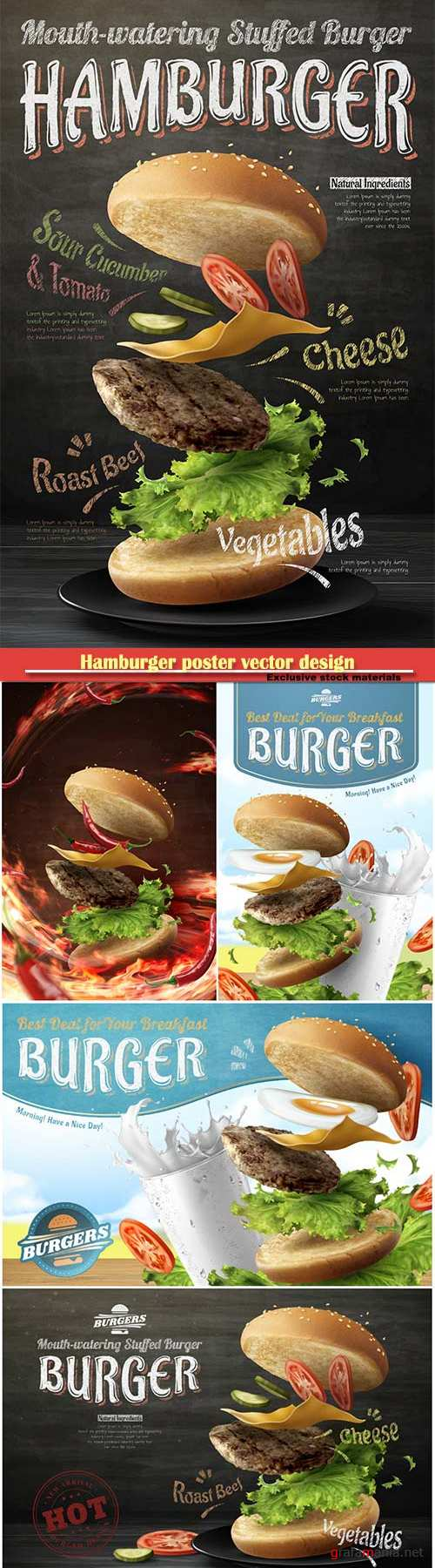 Hamburger poster vector design