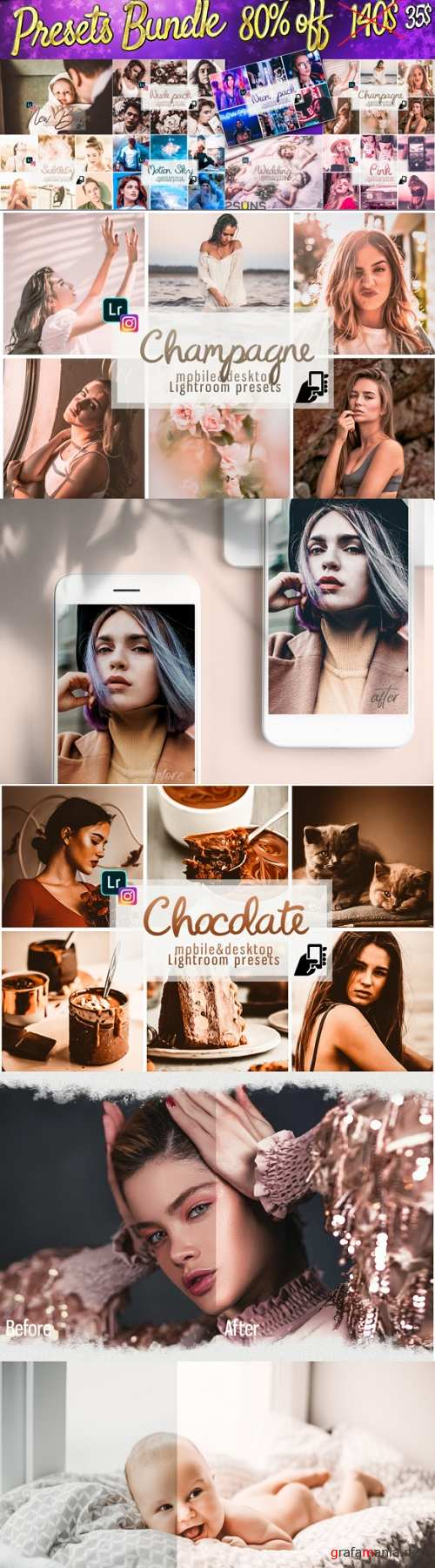 100 Mobile Lightroom Preset Bundle