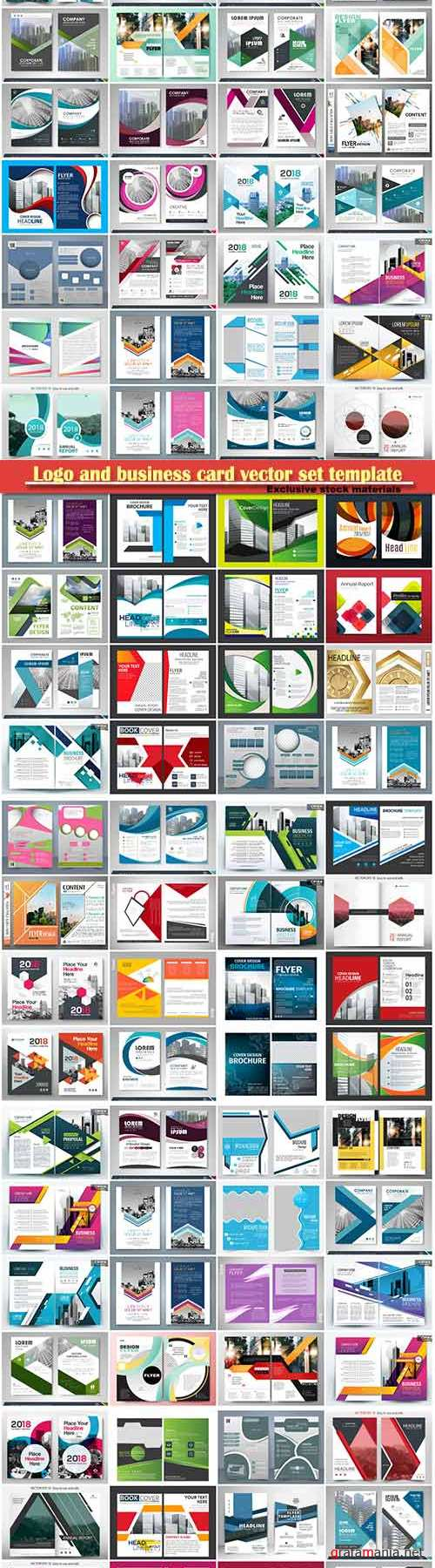 Logo and business card vector set template # 24