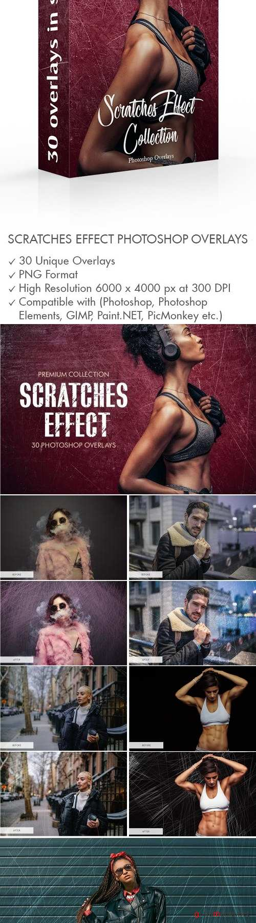 Scratches Effect Photoshop Overlays - 3894027