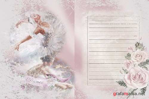 Ballet Journaling or scrapbook pages Commercial Use - 290742