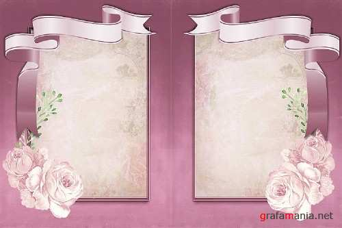 18 page Journal Kit Backgrounds for crafts. Commercial Use - 291428