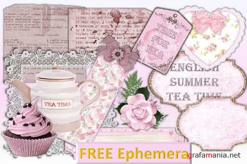 Scrapbooking Kit with FREE CLipart and Ephemera - 301810