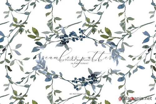 Watercolor Leafy Clipart Collection - 3989800
