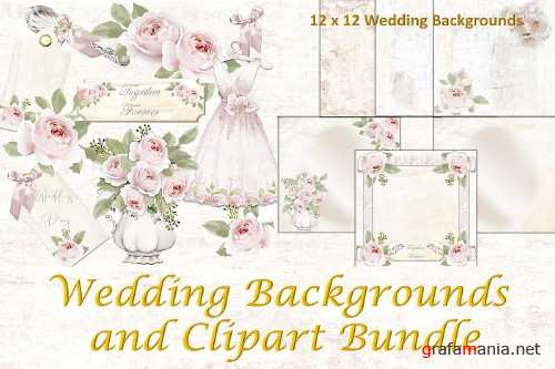 Wedding Backgrounds and Clipart Commercial Use - 298652