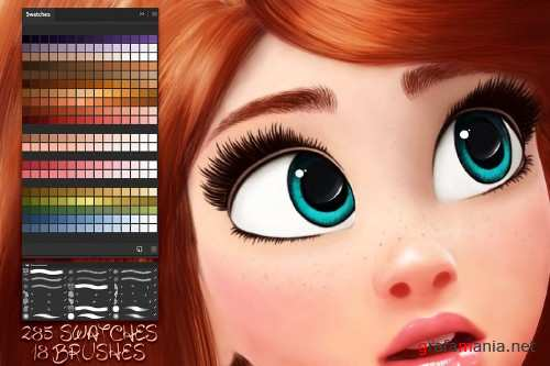 Cartoon Portrait Swatches - 3730244