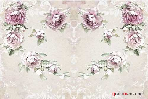 20 Journaling Background papers. Rustic Roses Commercial Use - 282921