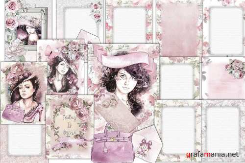 Journaling pages 14 pages FREE Ephemera Commercial Use - 283490