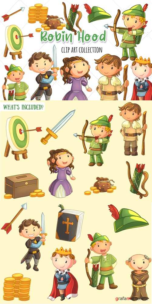 Robin Hood Clip Art Collection - 304408