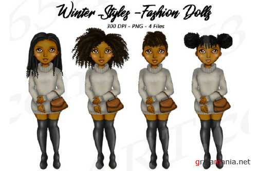 Natural Hair Black Girls Clipart, Winter Sweaters Fashion - 204270