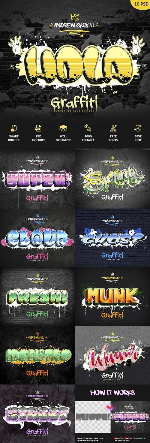 Graffiti Text Effects - 10 PSD - vol 3 24020992