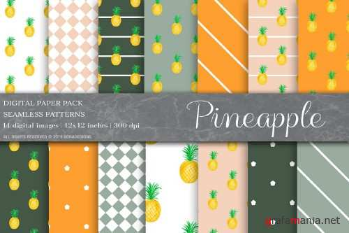 Pineapple Fruit Digital Paper - 4008797
