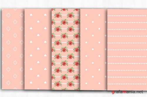 Floral Shabby Chic Digital Papers - 4002084