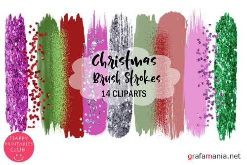 Christmas Brush Strokes Clipart - 305622