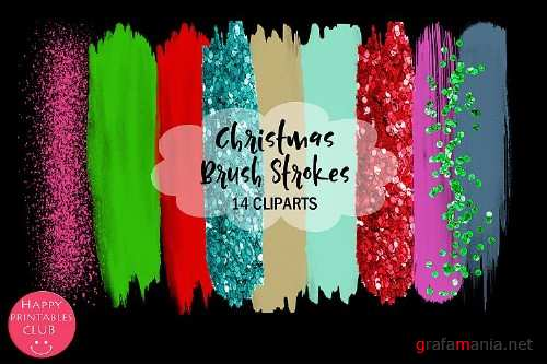 Christmas Brush Strokes Clipart - 304498