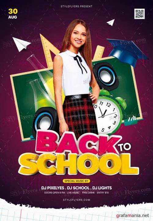 Back To School V0708 2019 PSD Flyer Template