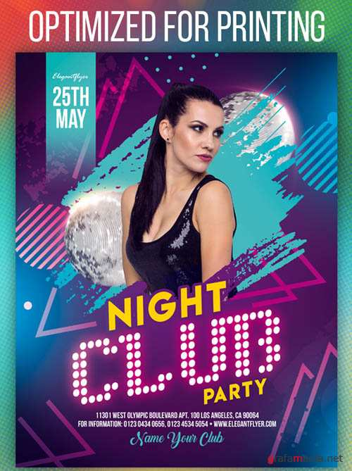 Night Club Party V1208 2019 Flyer Template in PSD