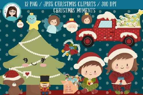 Christmas moments cliparts - 301791