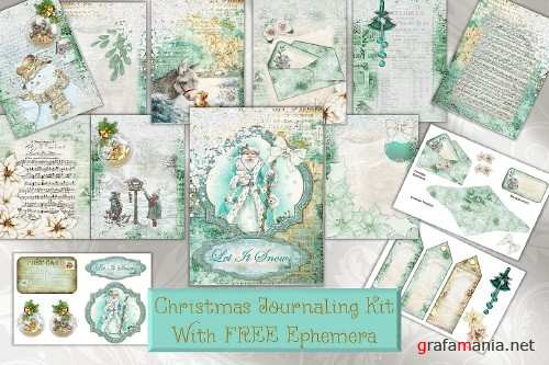 Christmas FREE Clipart and Printable kit with Commercial Use - 288303
