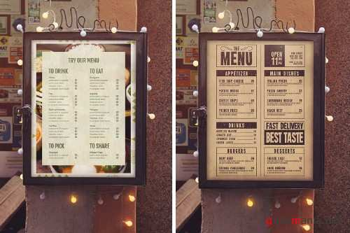 Menu Vertical Mockup - 4011511