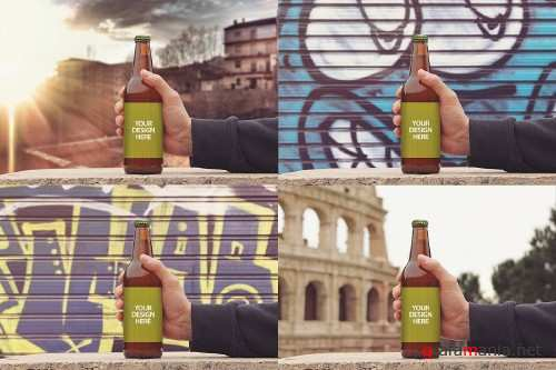 50cl / 16.9oz Beer Bottle Mockup - 4011015