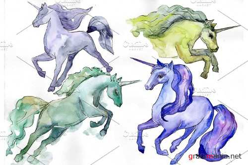 Image unicorn watercolor png - 4027340