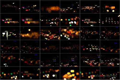 80 Real City Bokeh lights Effect Photo Overlays 313838