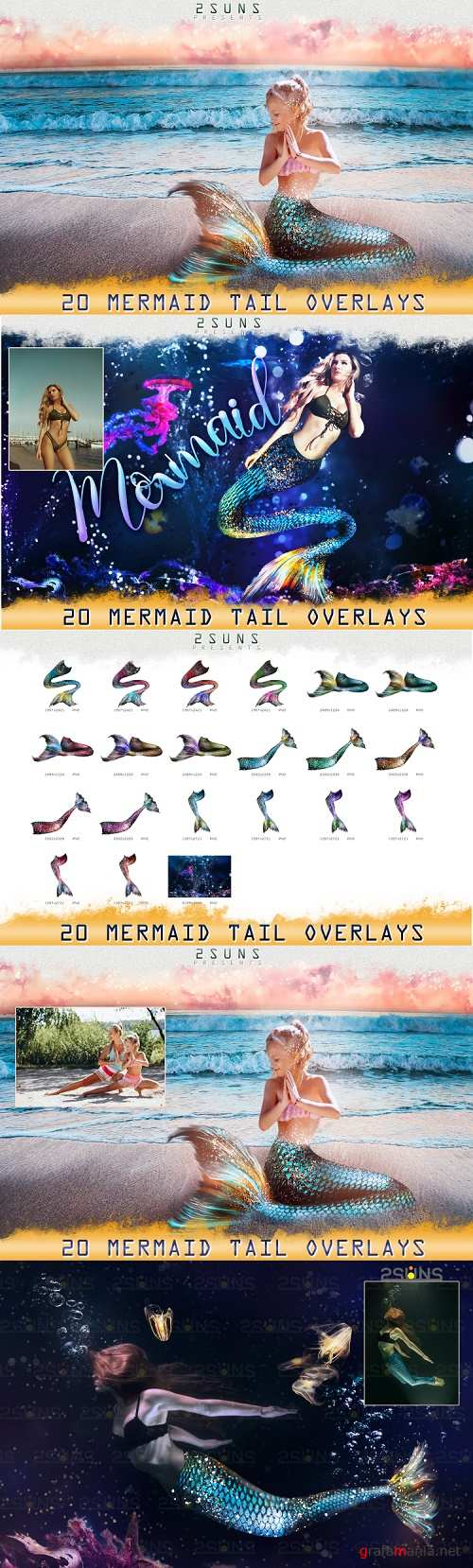 Mermaid tail, tails, overlays, Clipart, PNG - 312697