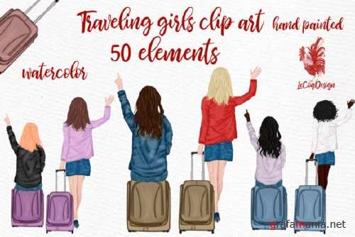 Travel Girls Clipar
