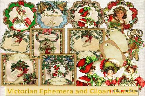 Vintage Ephemera and CLipart Bundle - 317189