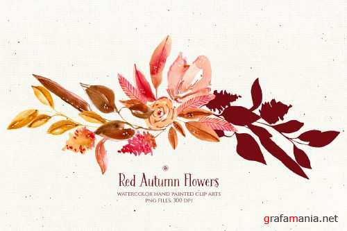 Red Autumn Flowers - 4046953