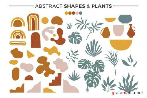 Modern Abstract Shapes and Plants
