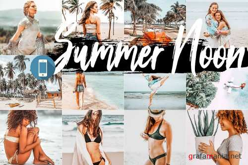 5 Summer Noon Mobile Lightroom Presets, warm orange preset  - 317984