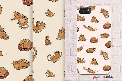 Funny Red Cats - Vector Set - 136708