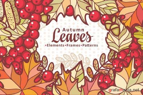 Autumn Leaves. Cute Cartoon Elements 324048