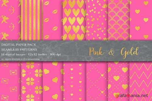 Gold Geometric Digital Papers - 4028243