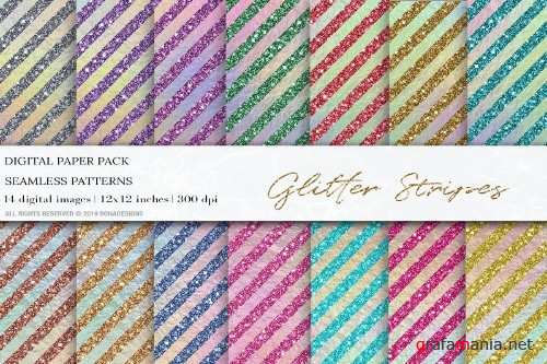 Glitter Stripes Digital Papers - 4045032