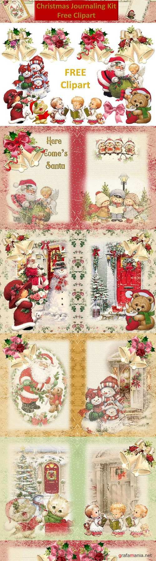 Christmas Fireside Journaling Kit CU with Free clipart - 299754