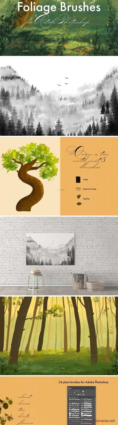 Foliage Brushes for Adobe Photoshop - 2960760