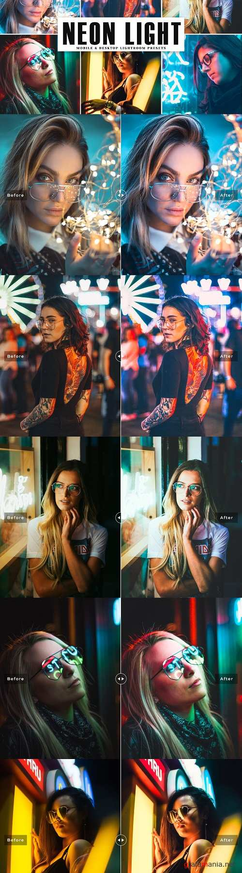 Neon Light Pro Lightroom Presets - 4041707