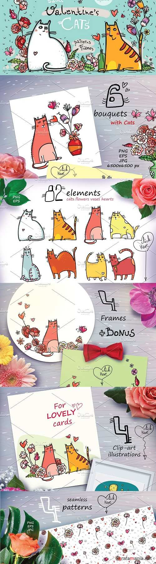 St.Valentine's Cats - 82 elements - 2250515