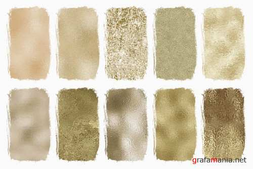 Seamless Pale Gold Foil Textures