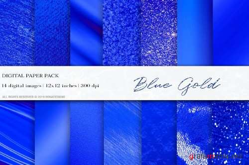 Blue Gold Digital Paper - 4062728