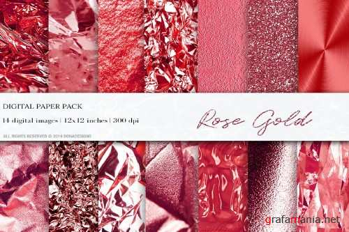 Rose Gold Digital Papers, Textures - 4059542