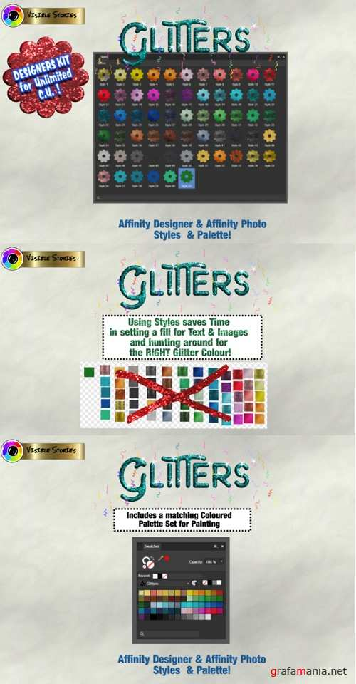 Glitters Designers Kit for Affinity Photo & Affinity Designer