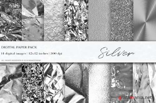 Silver Digital Papers - 4061341