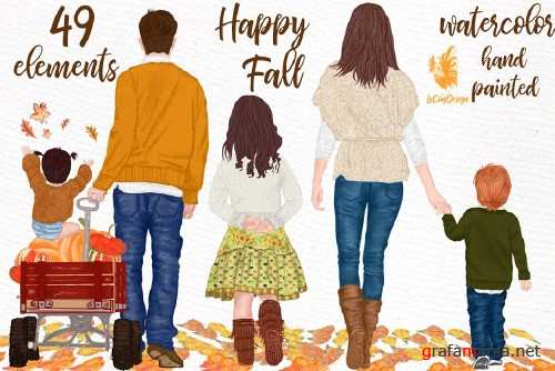 Fall clipart, Family clipart - 4070663