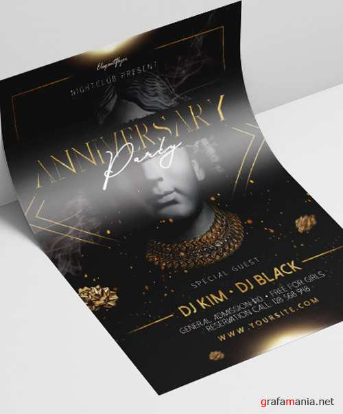 Anniversary Party V2208 2019 Premium PSD Flyer Template