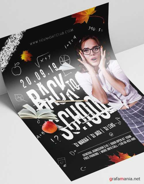 Back to School V2408 2019 Premium PSD Flyer Template